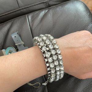 New with tag Crystal Tennis bracelet adjustable